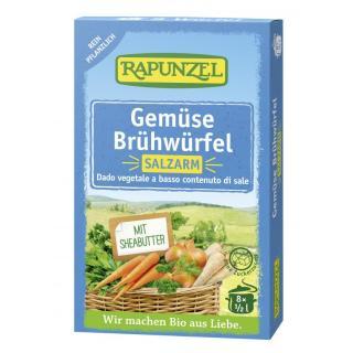 Gemüse-Brühwürfel salzarm, mit Bio-Hefe