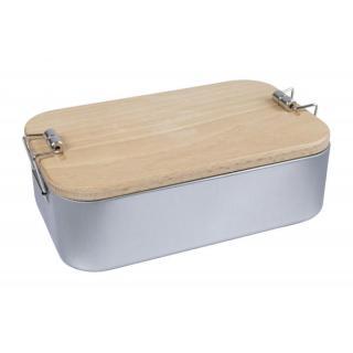 Lunchbox 2in1 mit Buchenholzdeckel