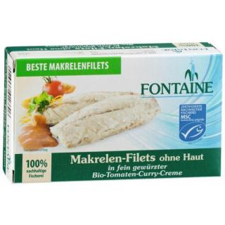 Makrelen Filet in Tomaten Curr