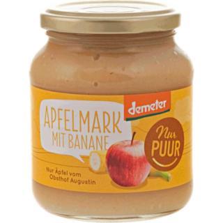 Apfelmark mit Banane (Glas)