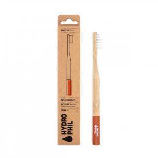 Zahnbürste Rot mittelweich Bambus