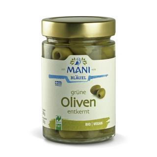 Grüne Oliven entkernt