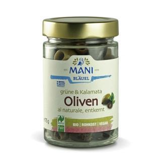 Grüne & Kalamata Oliven al Naturale entkernt