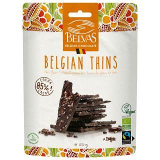 Belgian Thins Dark 85 %